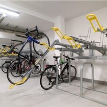 Hi-Rise Two Tier Cycle Rack Storage System - Heavy Duty