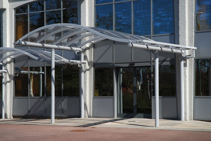 Solihull Wave Entrance Canopy