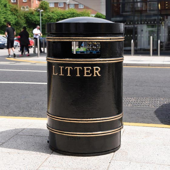Round Large Cast Iron Bin