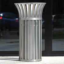 Weyburn Open Top Litter Bin - Stainless Steel