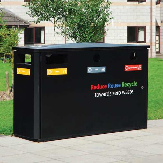 Derby Triple Wheelie Bin Recycling Unit