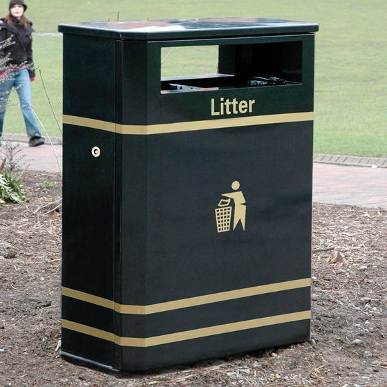 Derby E Double Slimline Litter Bin