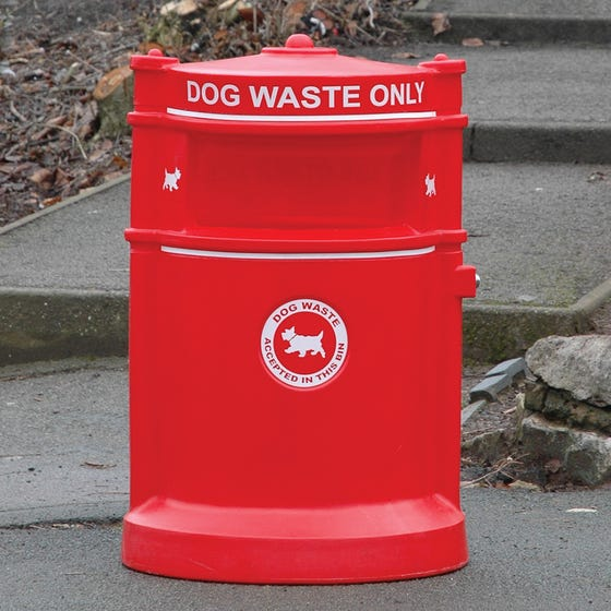 Maelor Plastic High Security Dog Waste Bin