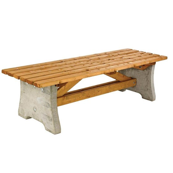 Maidenwells Concrete & Timber Bench