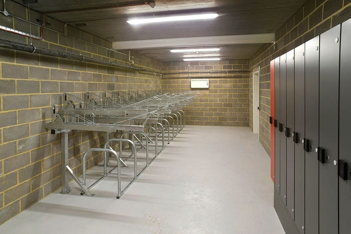 Easi-Riser Two Tier Cycle Parking System