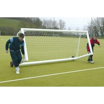 Self Weighted Rollaway Football Goals Package - 12' x 4'