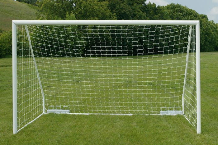 80mm Aluminium Freestanding Football Goal Posts - 16' x 6'