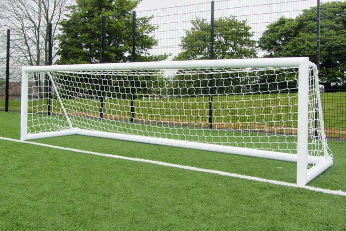 Elliptical Aluminium Freestanding Football Goal Posts - 16' x 4'