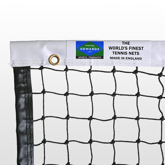 Edwards Matchplay Tennis Net 2.5mm with Vinyl Coated Fabric Headband