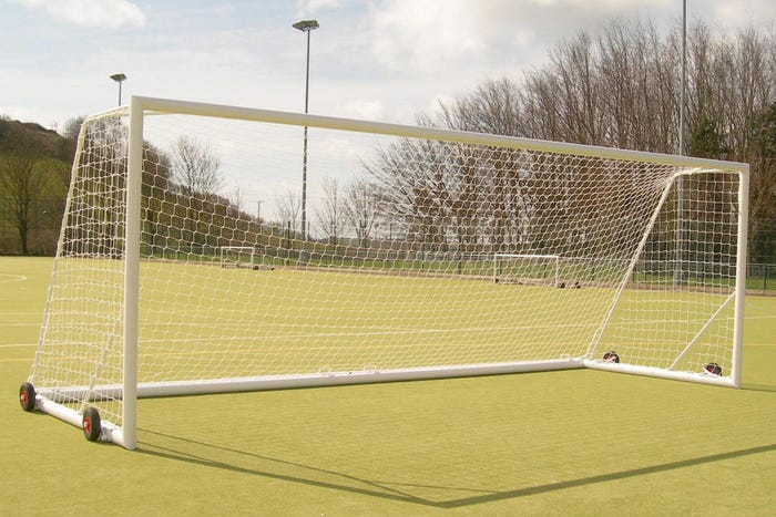 Self Weighted Rollaway Football Goals Package - 24' x 8'