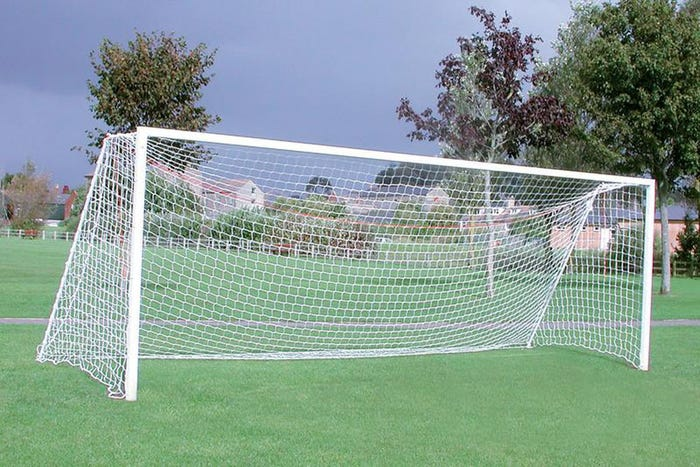 Extra Heavyweight Square Socketed Football Goal Posts - 21' x 7' (Youth)