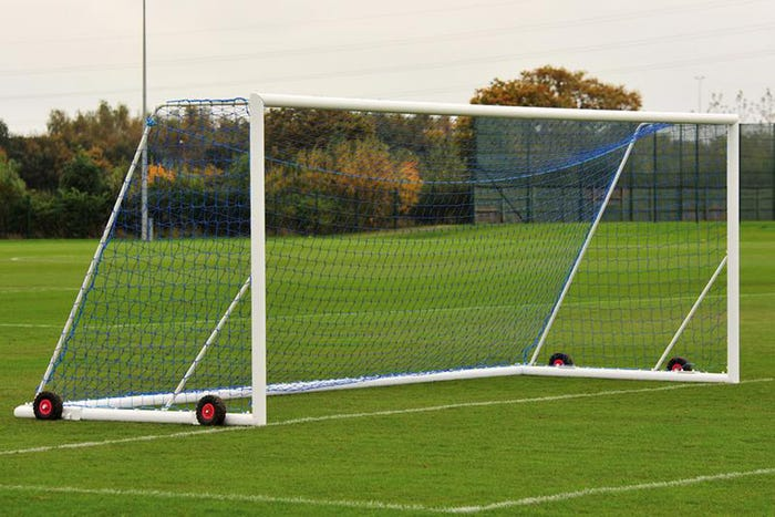 Elliptical Aluminium Freestanding Football Goal Posts - 24' x 8'