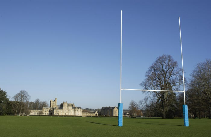 Aluminium Rugby Posts - Hinged