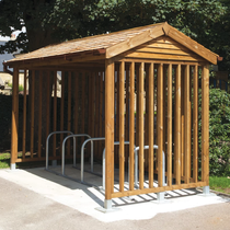 Cheshire Timber Cycle Shelter