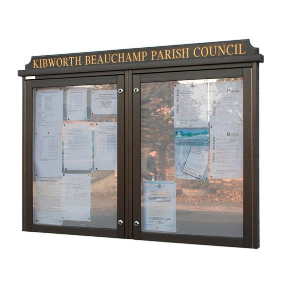 Double Bay 'Man-Made Timber' Noticeboard (Displays 18 x A4 Sheets)