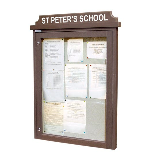 'Man-Made Timber' Noticeboard (Displays 9 x A4 Sheets)