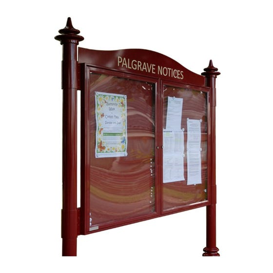 Double Bay Decorative Aluminium Noticeboard (Displays 9 x A4 per Bay)
