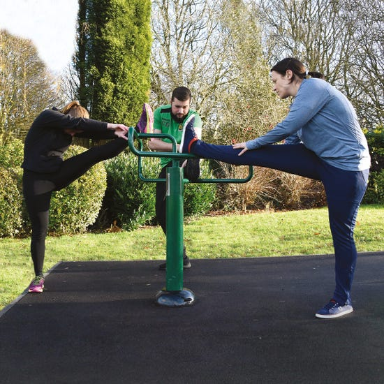 leg stretch | adults outdoor gym equipment